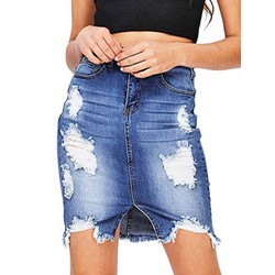 Plain Mini Skirt Asymmetric High-Waist Women's Skirt
