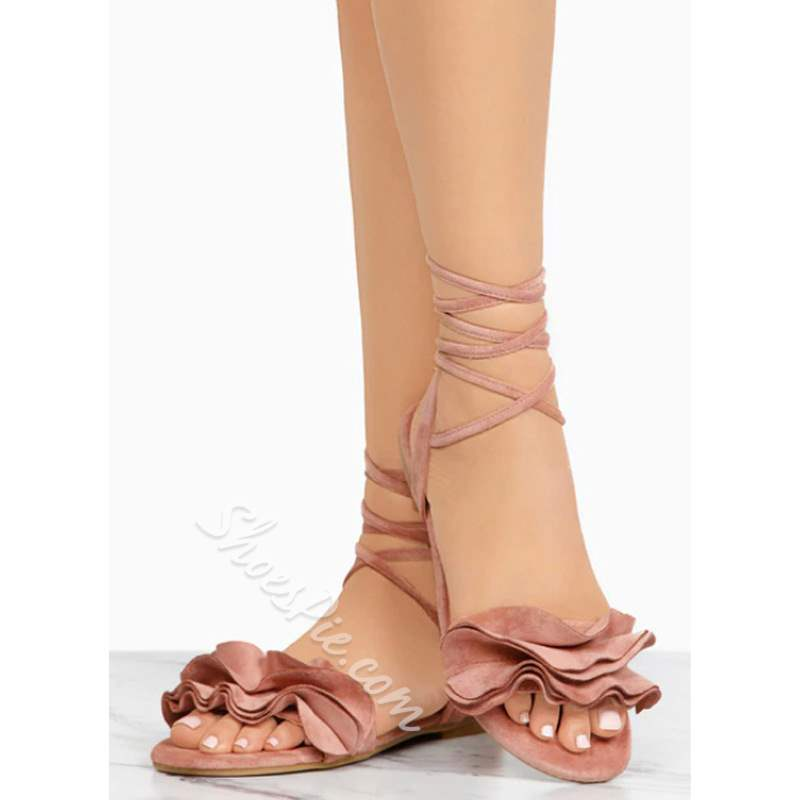 Shoespie Sexy Lace-Up Flat With Open Toe Sandals