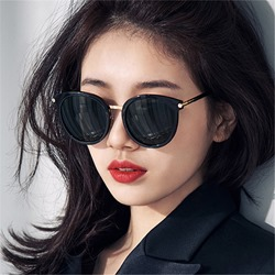 Cat Eye Shape Resin Mirror Polarized Sunglasses