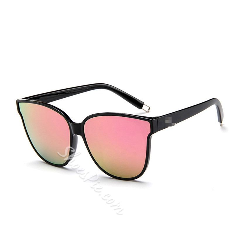 Cat Eye Women Tinted Color Lens Shaped Sunglasses