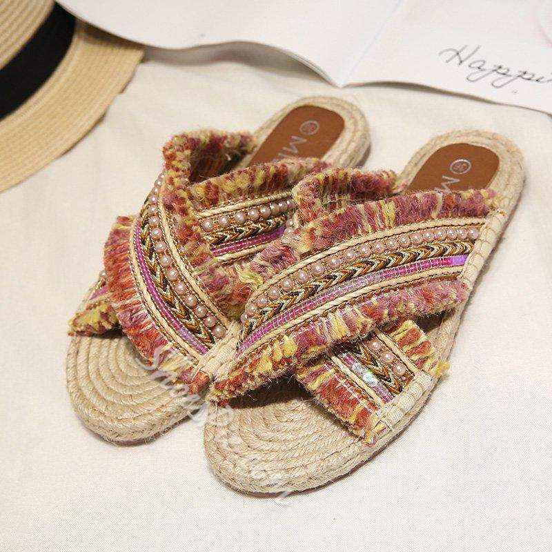 Shoespie Sexy Slip-On Flat With Flip Flop Summer Slippers