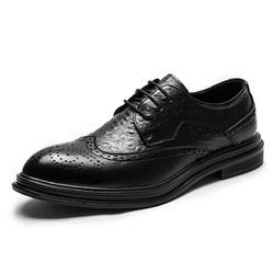 Shoespie Plain Low-Cut Upper PU Leather Men's Oxfords