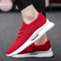 Shoespie Low-Cut Upper Mesh Lace-Up Round Toe Men's Sneakers