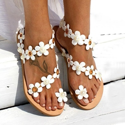 Shoespie Stylish Flat With Slip-On Thong Western Sandals
