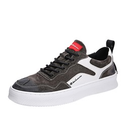 Lace-Up Low-Cut Upper Round Toe Men's Skate Shoes