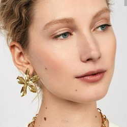 Vintage Floral Shape E-Plating Party Earrings