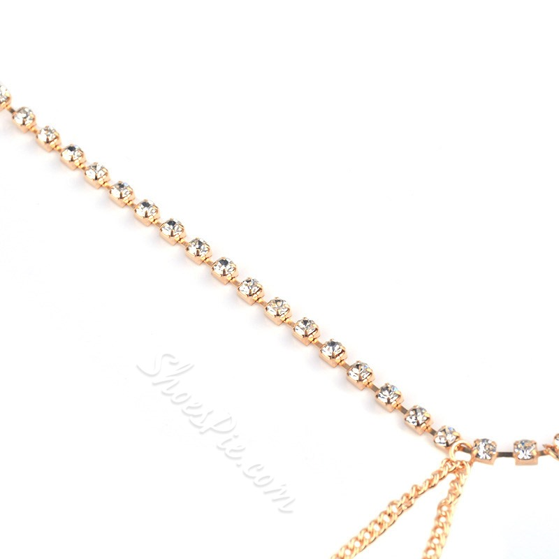 Sexy Multi-Layer Diamante Anklets ( One Piece )