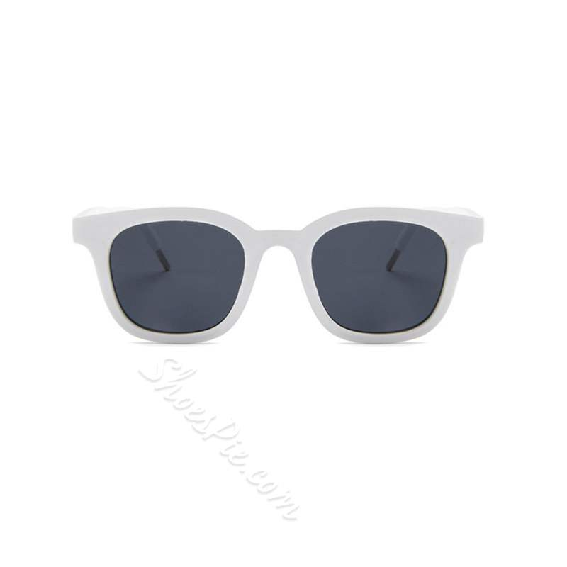Square Shape Resin Lens Poly Carbonate Sunglasses