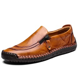Shoespie Zipper Plain Flat Heel PU Men's Loafers