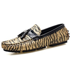 Shoespie Slip-On Low-Cut Upper Zebra Round Toe Men's Loafers
