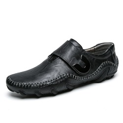 Shoespie Low-Cut Upper Plain Velcro Round Toe Men's Loafers
