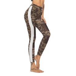 Camouflage Zipper Sports High-Waist Women's Leggings