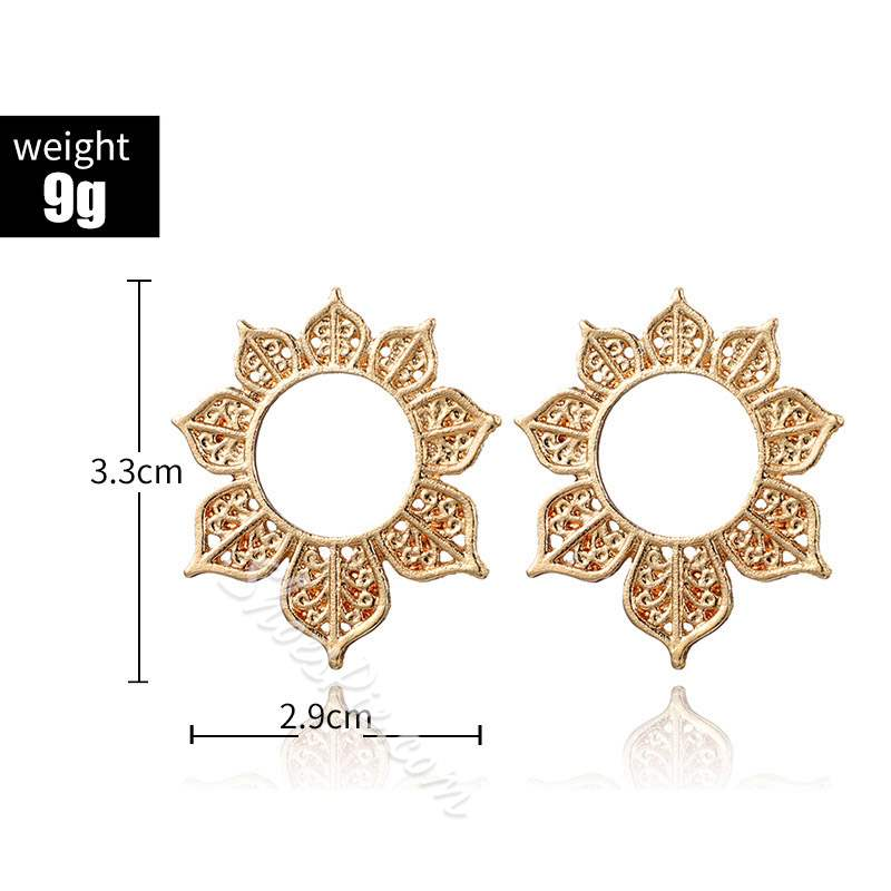 Ethnic Pattern E-Plating Alloy Prom Earrings