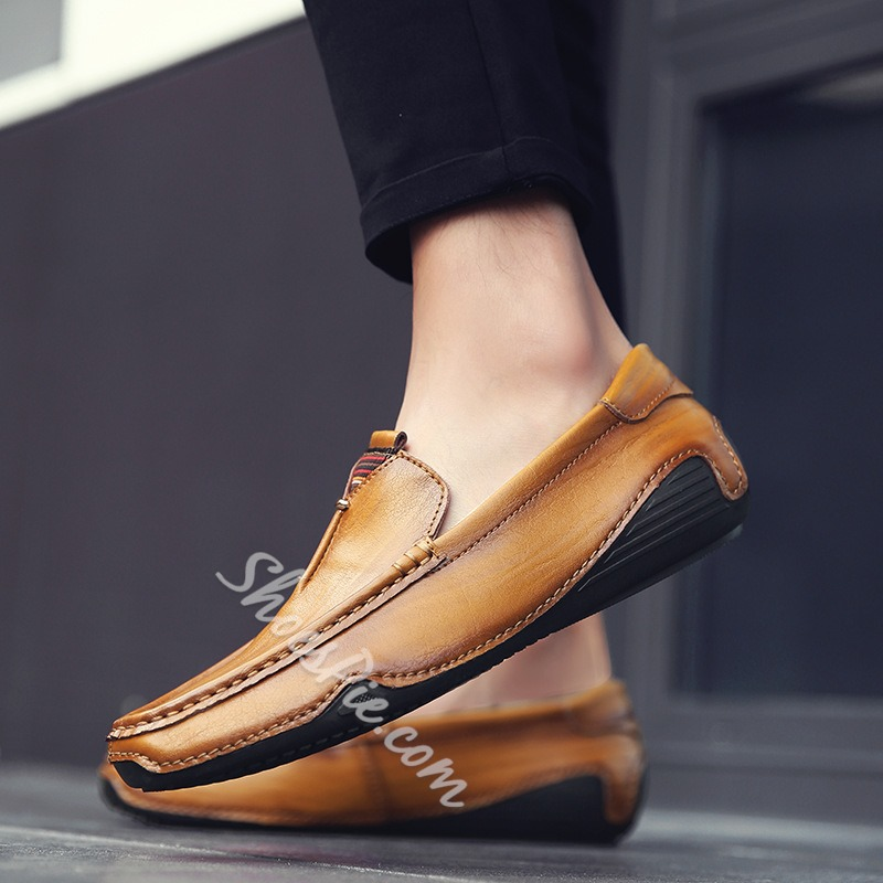 Shoespie Casual Plain Slip-On Flat Heel PU Men's Loafers
