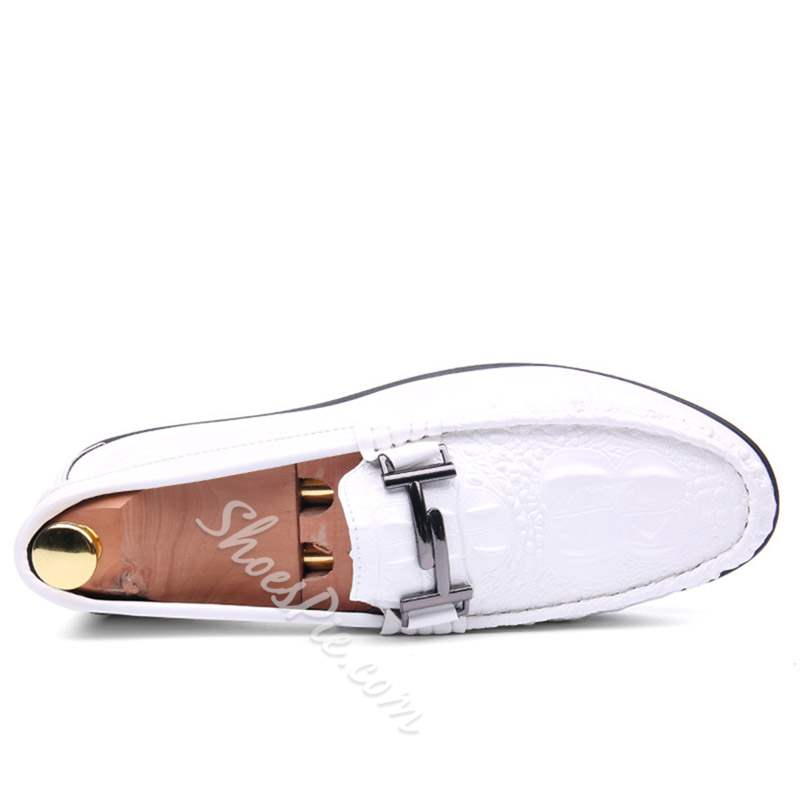 Shoespie Slip On Flat Heel Plain Round Toe Men's Loafers