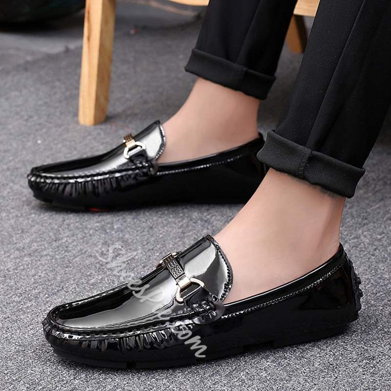 Shoespie Slip On Low-Cut Upper Round Toe Men's Loafers