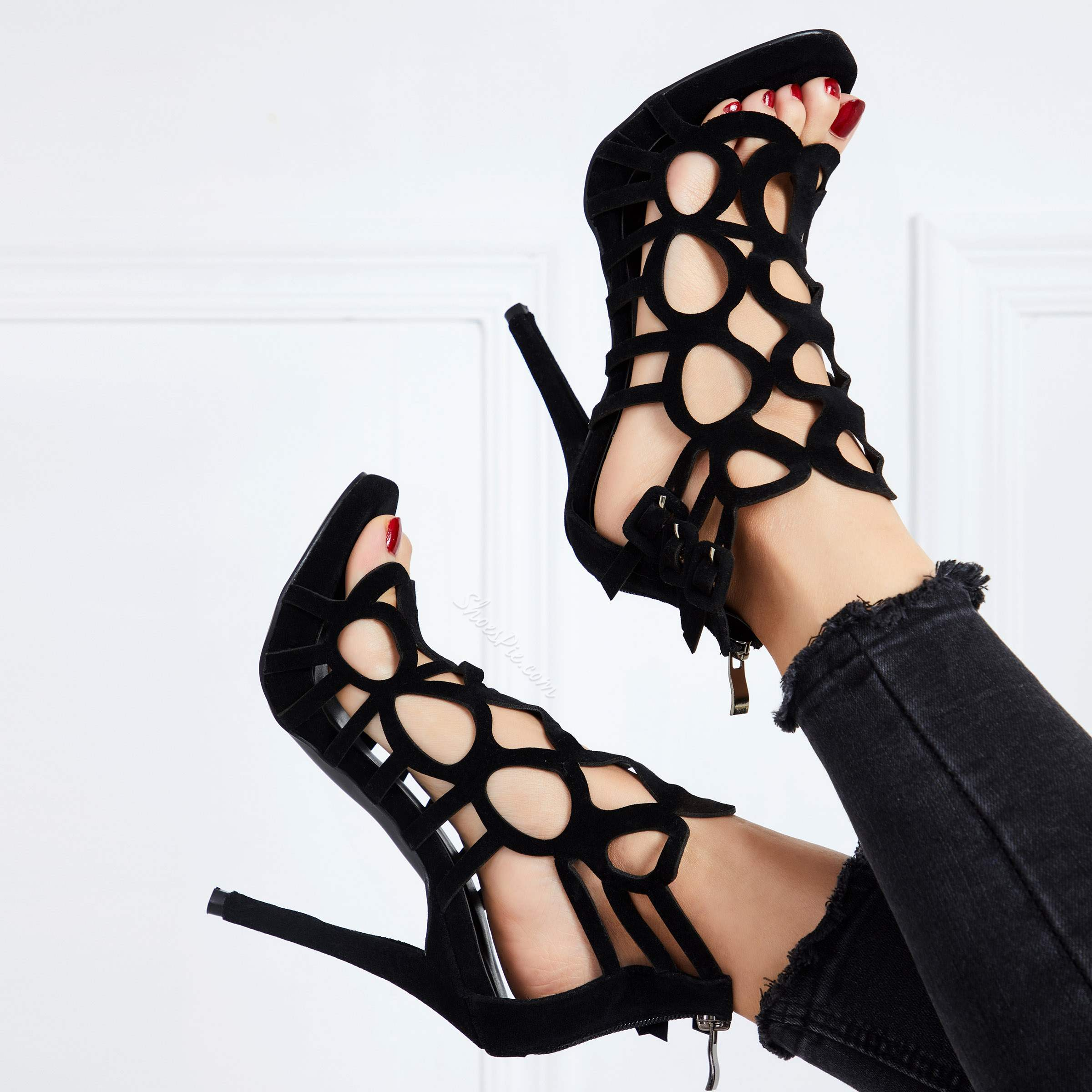 Sexy Cut-Outs Stiletto Heels Dress Gladiator Sandals