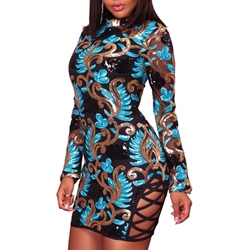 Sleeveless Print Above Knee Spring Women's Bodycon Dress
