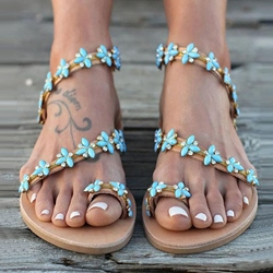 Shoespie Stylish Flat With Slip-On Thong Beach `Sandals