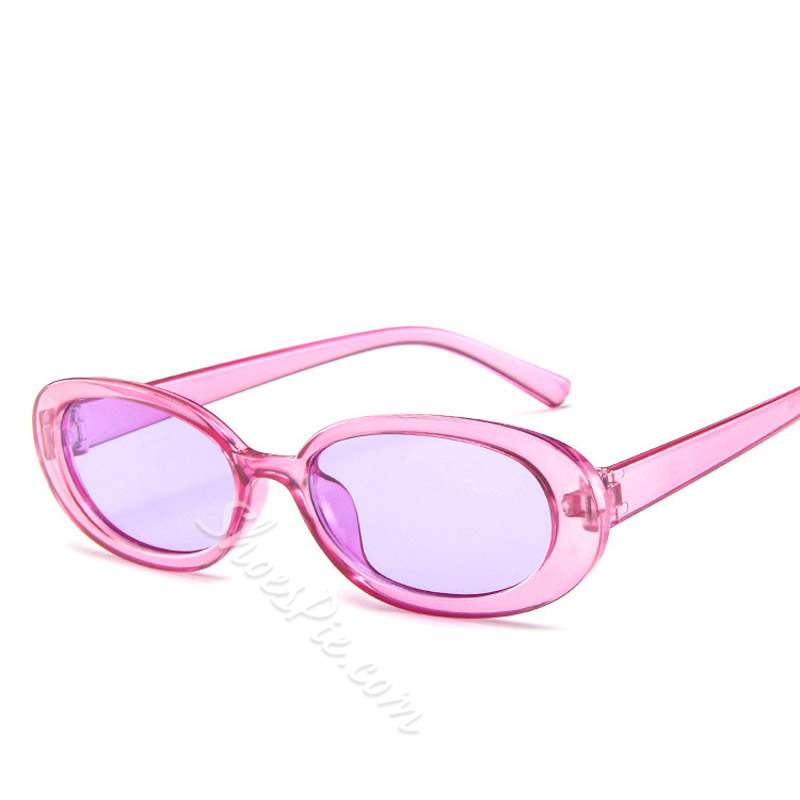 Jelly Candy Color Lens Resin Oval Sunglasses