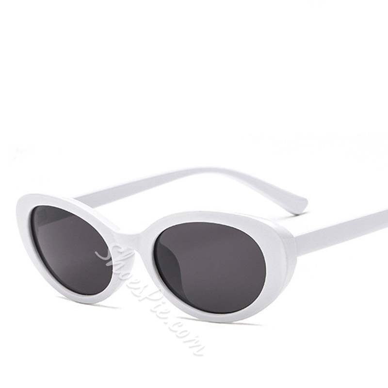 Vintage Resin Frame Poly Carbonate Oval Sunglasses