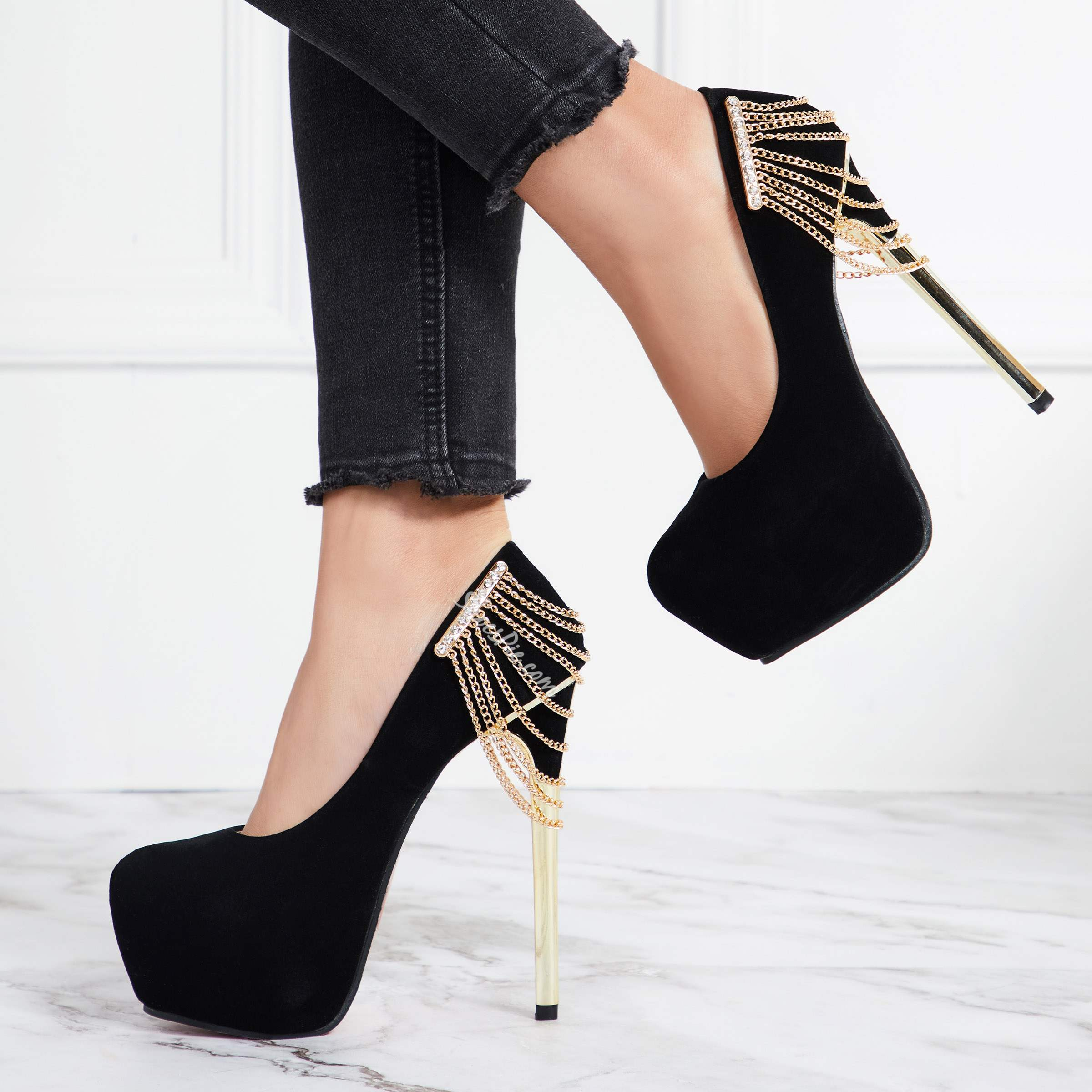 Shoespie Chain Casual Platform Stiletto Heels