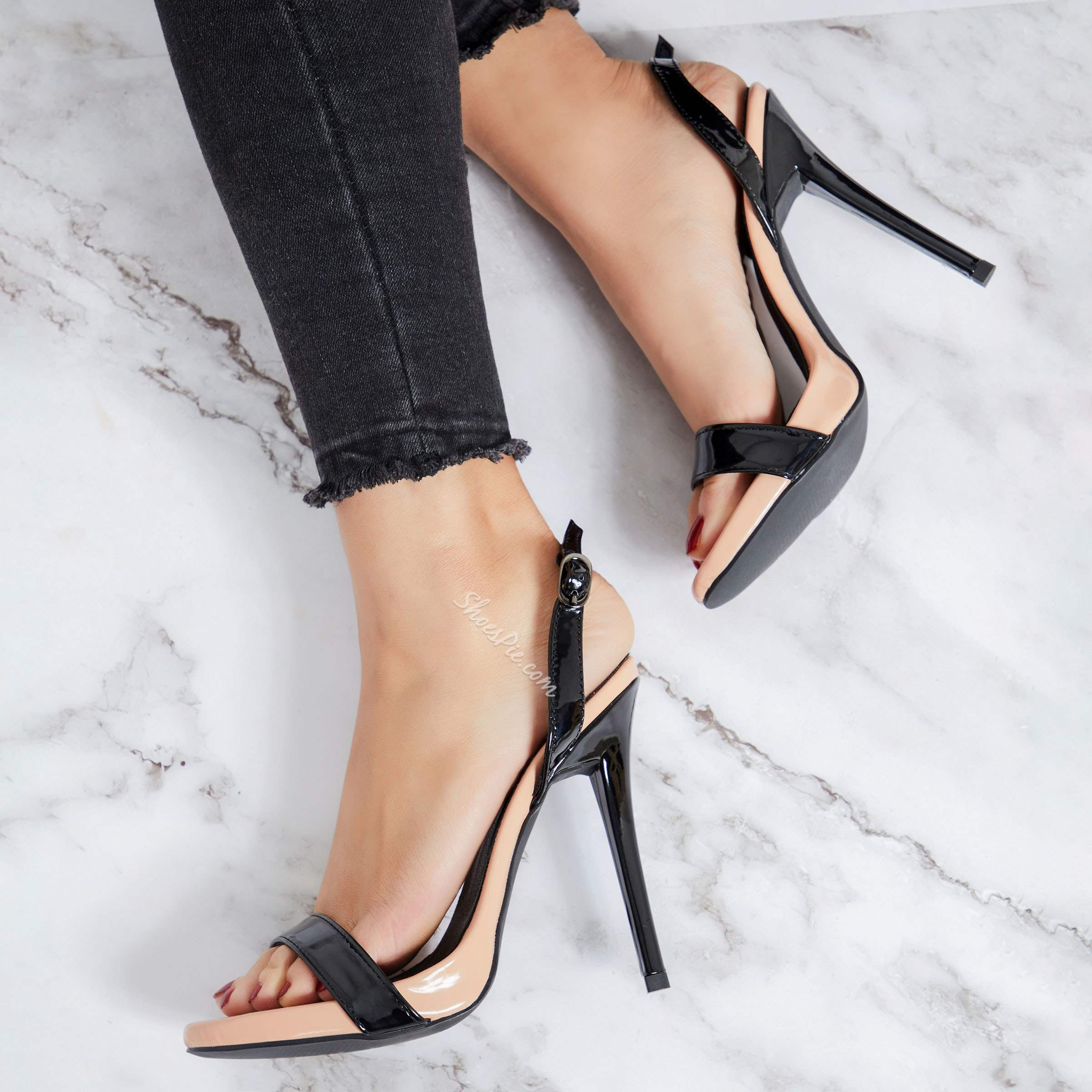 Simple Banquet Slingback Strap Stiletto Heels