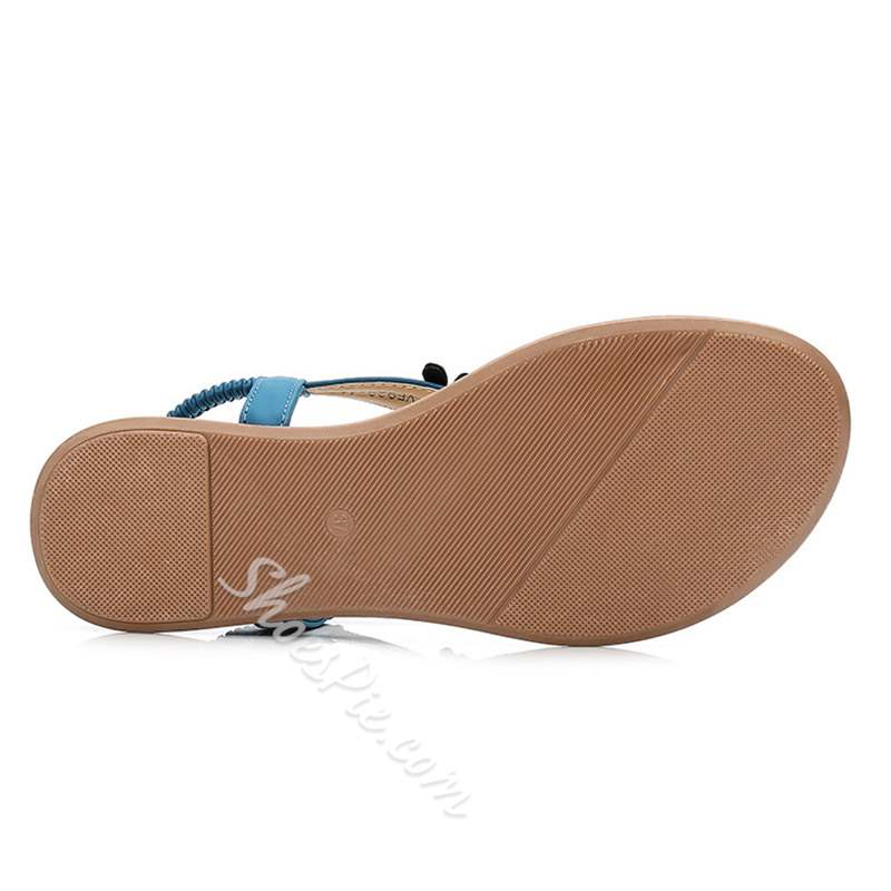 Shoespie Stylish Flat With Elastic Band Thong Sandals