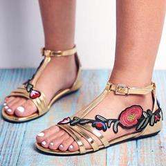 Shoespie Sexy Buckle Open Toe Flat With Western Sandals