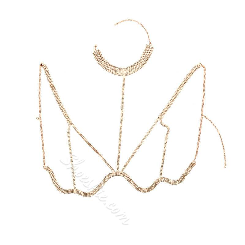 New Style Gold/Silver Diamante Belly Body Chain
