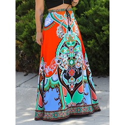 Geometric Expansion Print High-Waist Women's Skirt