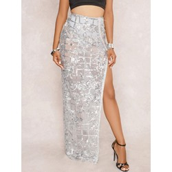 Ankle-Length Pencil Skirt Split High-Waist Women's Skirt