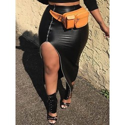 Split Mid-Calf Bodycon Fashion Women's Skirt