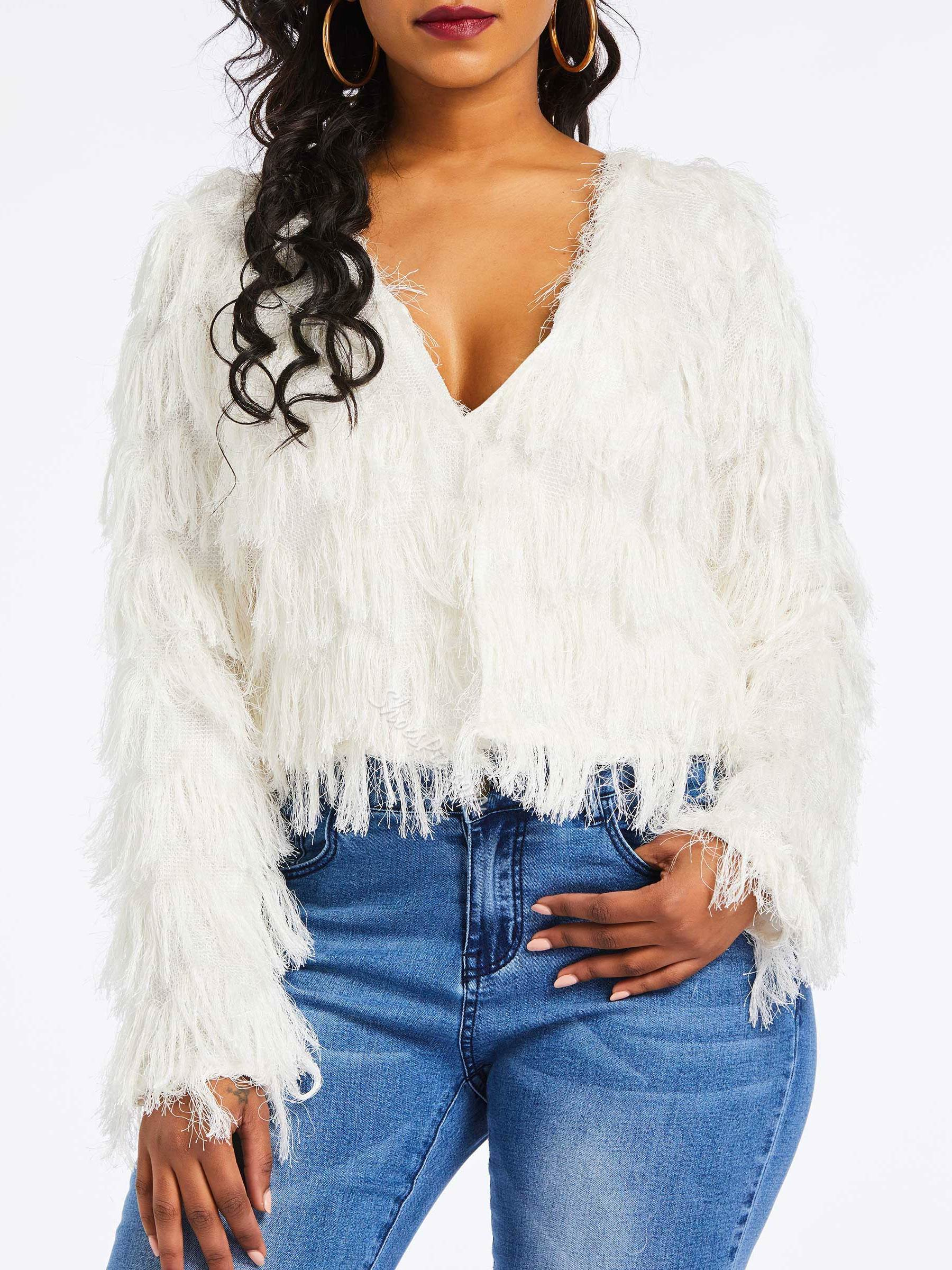 Tassel Long Sleeve Women's Sweater