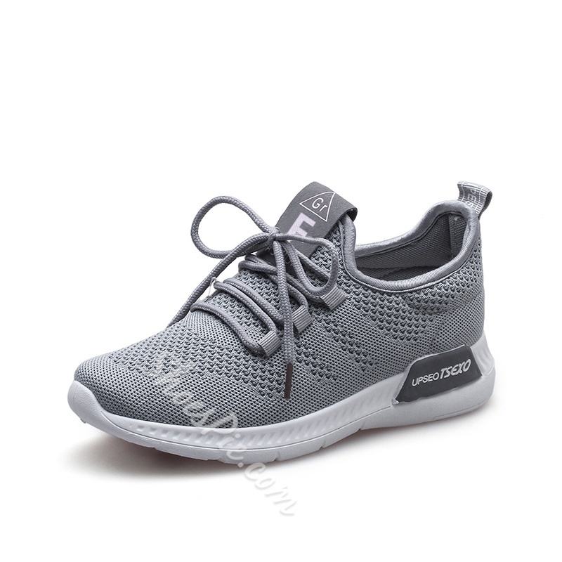 Shoespie Breathable Lace-Up Casual Sneakers