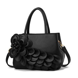 Shoespie Applique Floral PU Shoulder Bags
