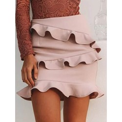 Mini Skirt Bodycon Stringy Selvedge High Waist Women's Skirt