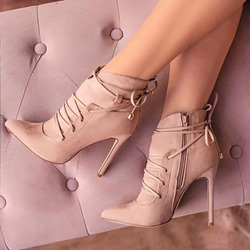 Shoespie Stylish Side Zipper Pointed Toe Stiletto Heel Ankle Boots