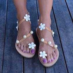 Shoespie Sexy Slip-On Flat Thong Beach Summer Sandals
