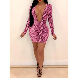 Long Sleeve Floor-Length Belt Fall Women's Bodycon Dress