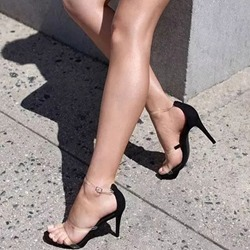 Shoespie Jelly Stiletto Heel Solid Buckle Strap Sandals