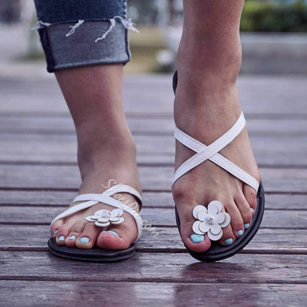 Shoespie Sexy Summer Thong Flat With Slip-On Casual Slippers
