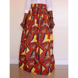 Print Geometric Expansion Western Women's Skirt