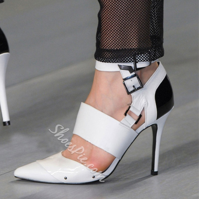 Shoespie Trendy Pointed Toe Buckle Stiletto Heel Shoes