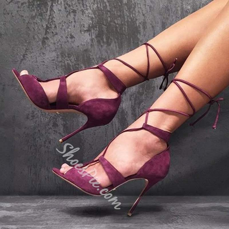 Shoespie Sexy Stiletto Heel Lace-Up Sandals