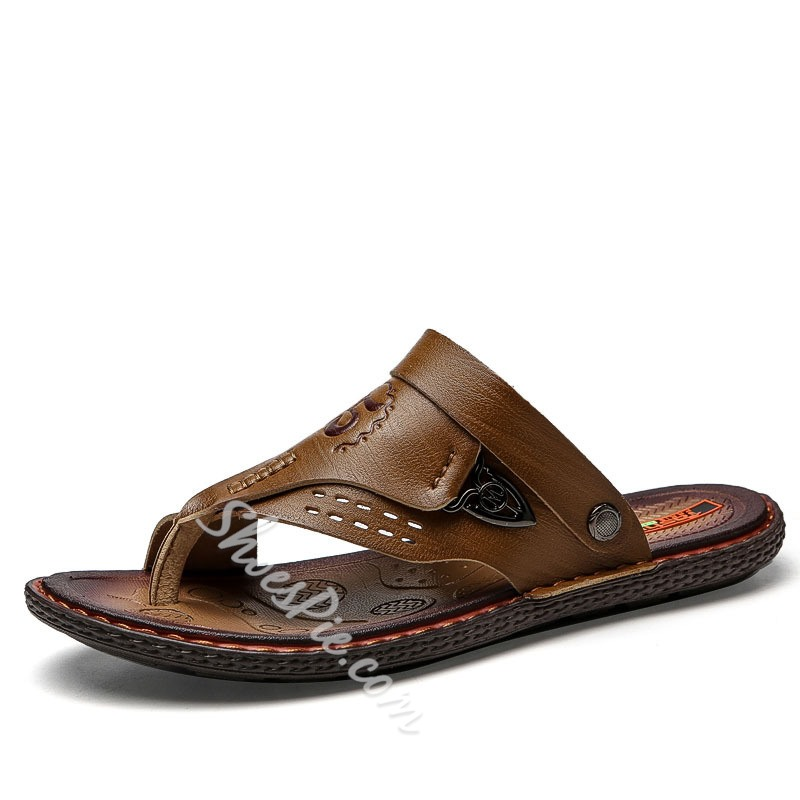 Shoespie Plain Summer Flip Flop Men's Slippers