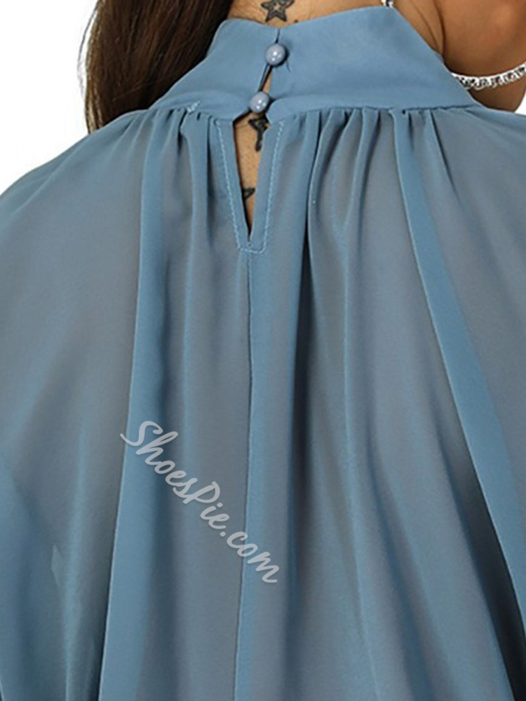 Plain Batwing Sleeve Standard Women's Blouse