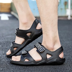 Shoespie Velcro Low-Cut Upper Flat Heel Open Toe Men's Sandals