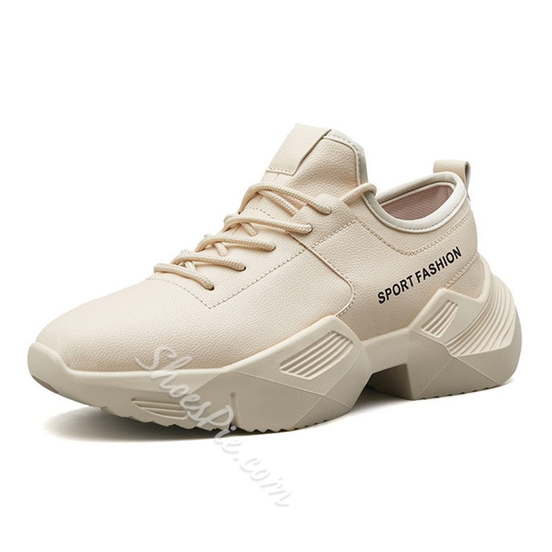 Shoespie Lace-Up Running Chunky Sneakers