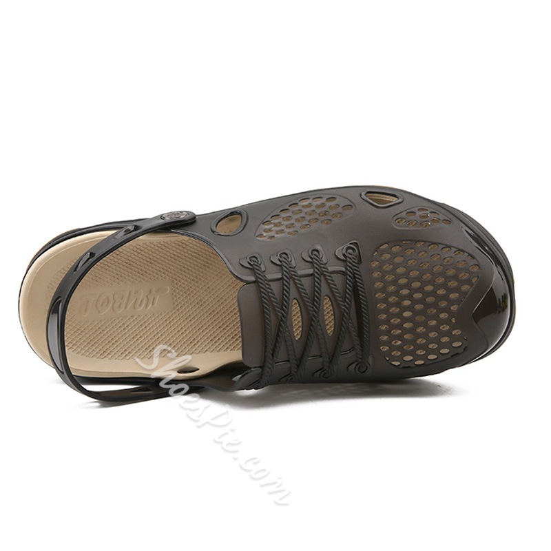 Shoespie Summer Hollow Plain Men's Slippers